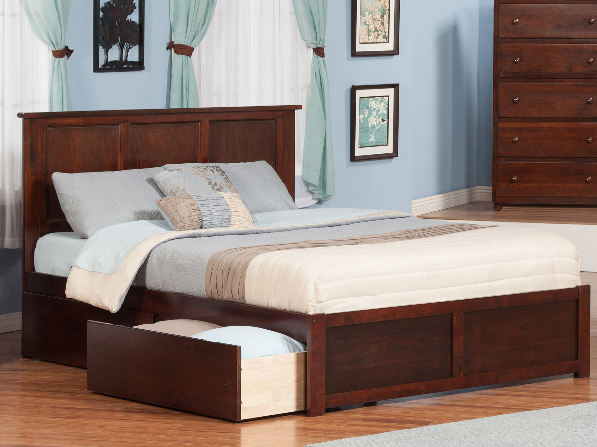 bed trundle day drawers or furniture product world espresso discovery with drawer beds