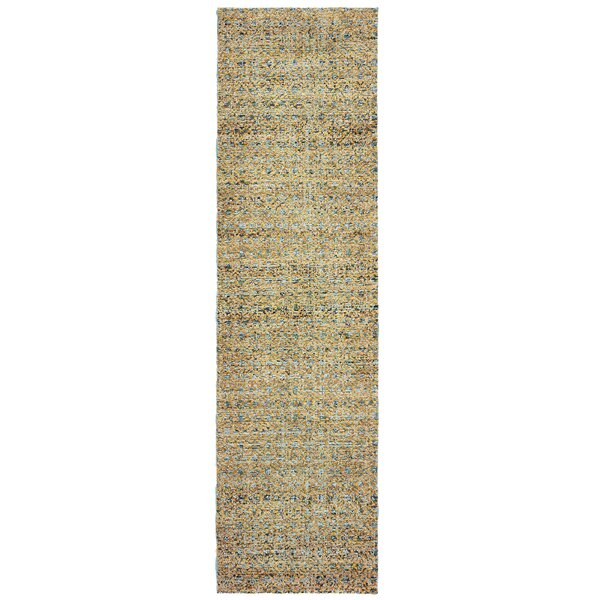 Bobby Blue/Gold Area Rug by Winston Porter