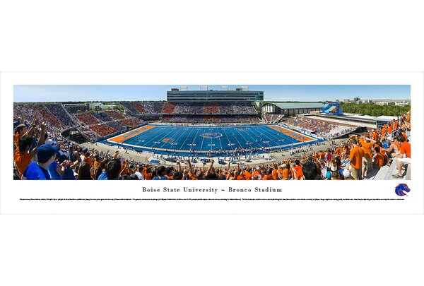 NCAA Boise State University - 50 Yard Line by Christopher Gjevre Photographic Print by Blakeway Worldwide Panoramas, Inc
