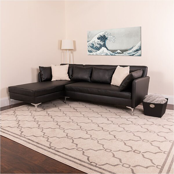 Dumont Leather Modular Sectional by Orren Ellis