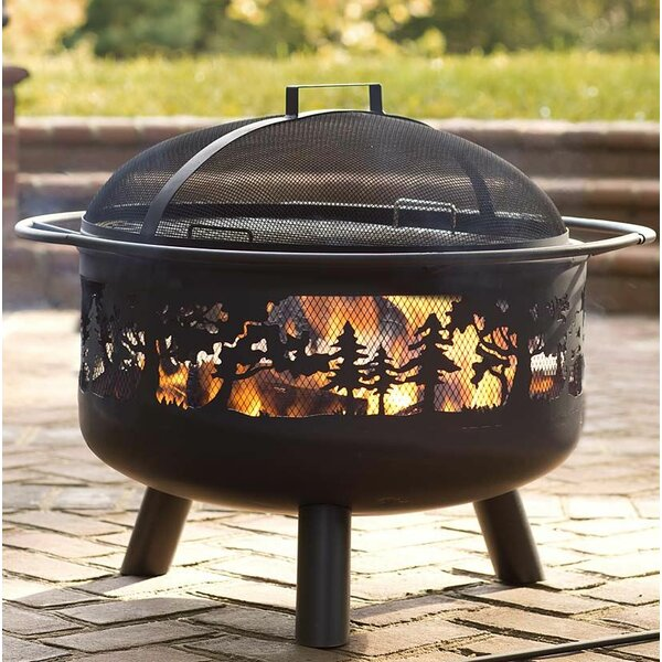 Timberline Steel Wood Burning Fire Pit by Plow & Hearth