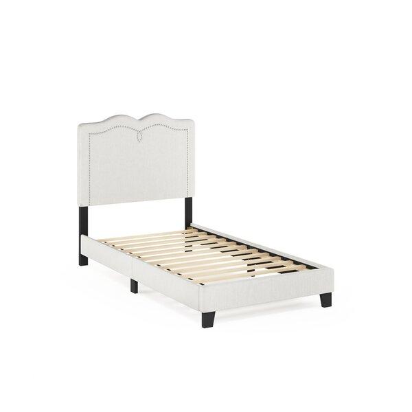 Pinson Nailhead Trim Bed Frame by Alcott Hill