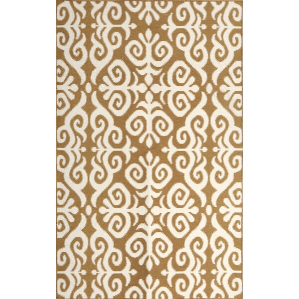 Earth Brown/Cream Indoor/Outdoor Area Rug by Tuft & Loom