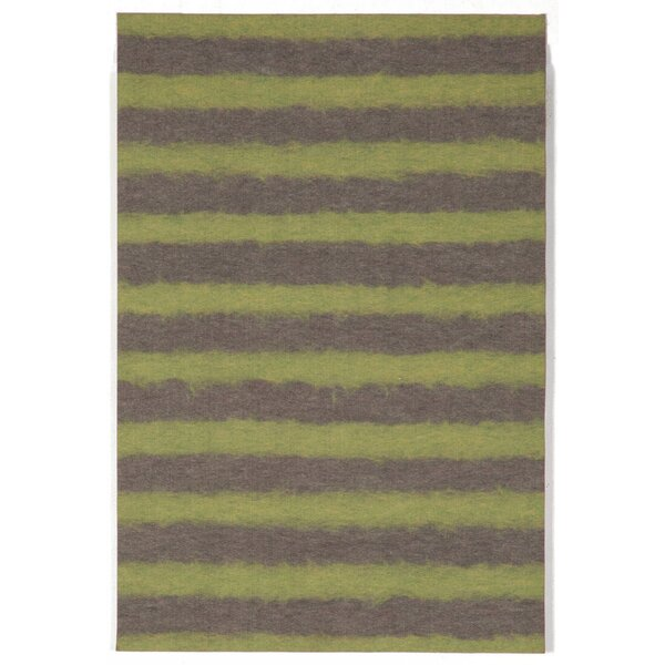Soleil II Hand Woven Green/Gray Area Rug by Liora Manne