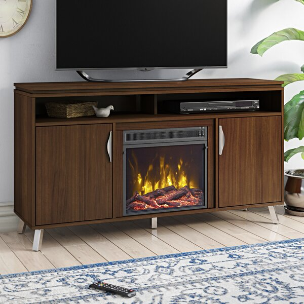 Review Geraldina TV Stand With Fireplace