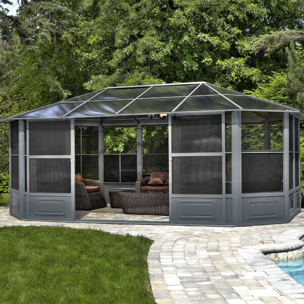 All Season Solarium 18 Ft. W x 12 Ft. D Aluminum Patio Gazebo by Gazebo Penguin