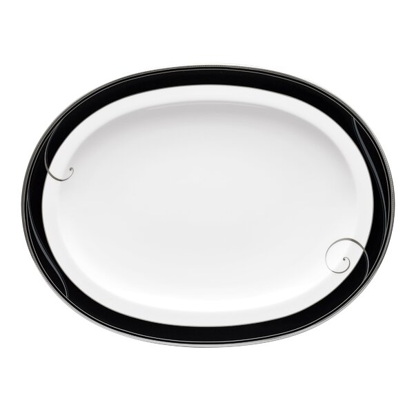 Wave Oval Platter by Noritake