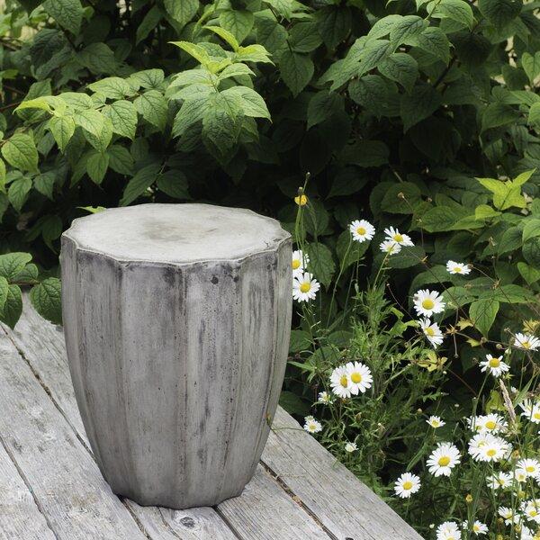 Breeze Stone/Concrete Side Table by My Spirit Garden