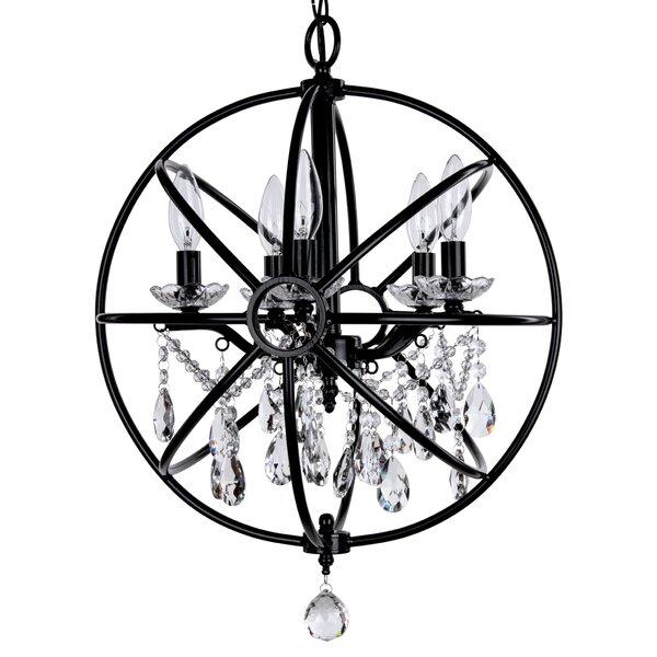 Benton 5 - Light Candle Style Globe Chandelier by House of Hampton House of Hampton