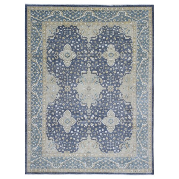 One-of-a-Kind Ardith Traditional Hand-Knotted Wool Blue/Beige Area Rug by Isabelline