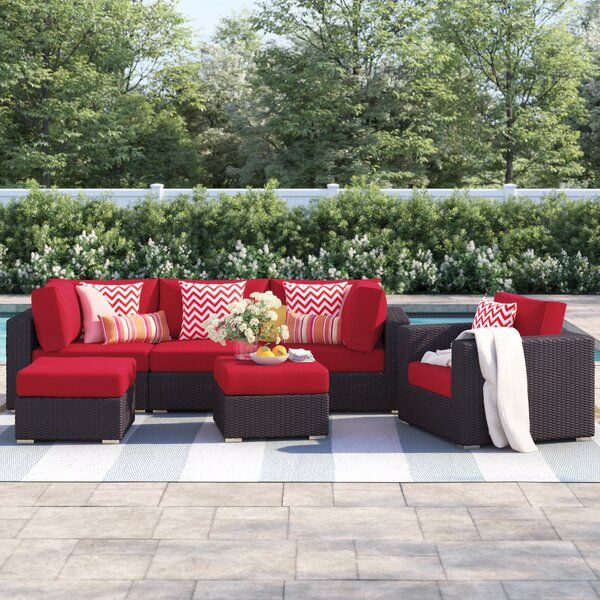 Brentwood 6 Piece Rattan Sectional Seating Group with Cushions by Sol 72 Outdoor