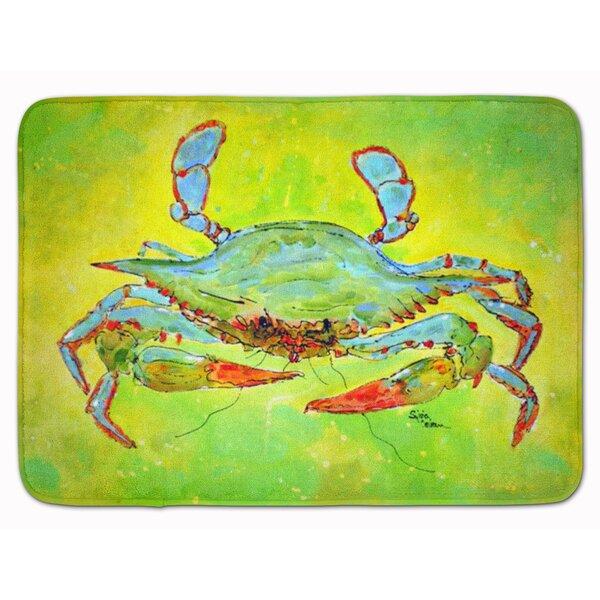 Crab Memory Foam Bath Rug by East Urban Home