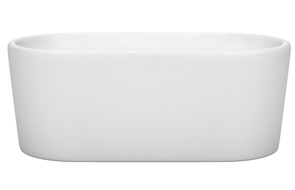 Ursula 59 x 27.5 Freestanding Soaking Bathtub by Wyndham Collection