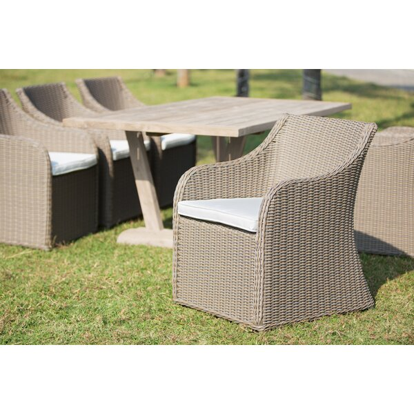 Porto Fino Patio Dining Chair with Cushion by Padmas Plantation
