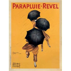 'Parapluie Revel' by Leonetto Cappiello Vintage Advertisement on Wrapped Canvas by Printfinders