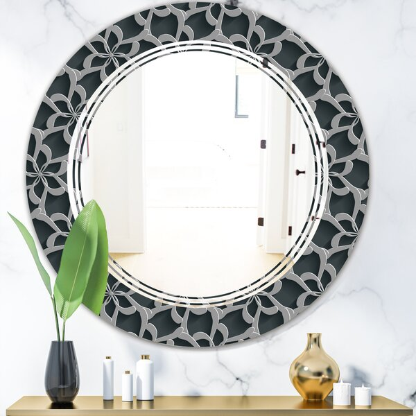 Triple C Floral 3D Background Traditional Wall Mirror