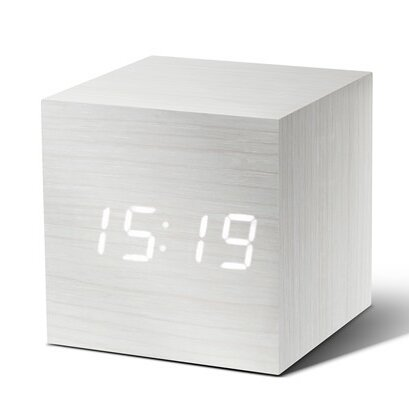 Cube Click Desktop Clock by Ginkgo
