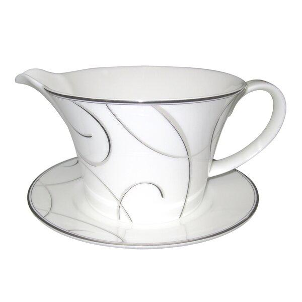 Elegant Swirl Gravy Boat by Nikko Ceramics