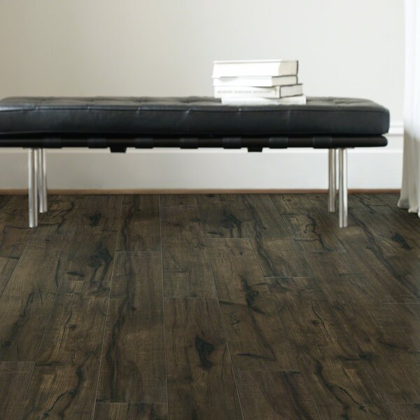 Milbank Hickory 5 x 51 Laminate Flooring in Mocha by Shaw Floors