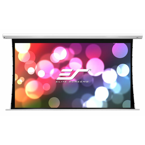 Saker Tab-Tension Series White Electric Projection Screen by Elite Screens