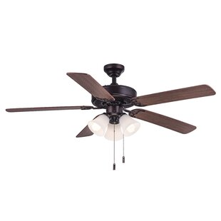 Great Price 52 Philbrook 5 Blade Ceiling Fan By Charlton Home
