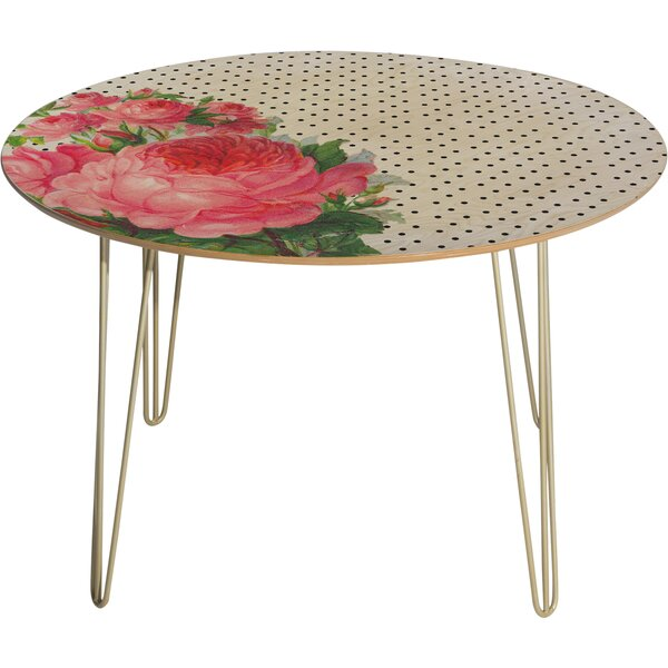 Allyson Johnson Floral Polka Dots Dining Table By Deny Designs
