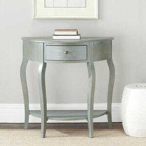 Danielle Console Table in Whitewash by Safavieh