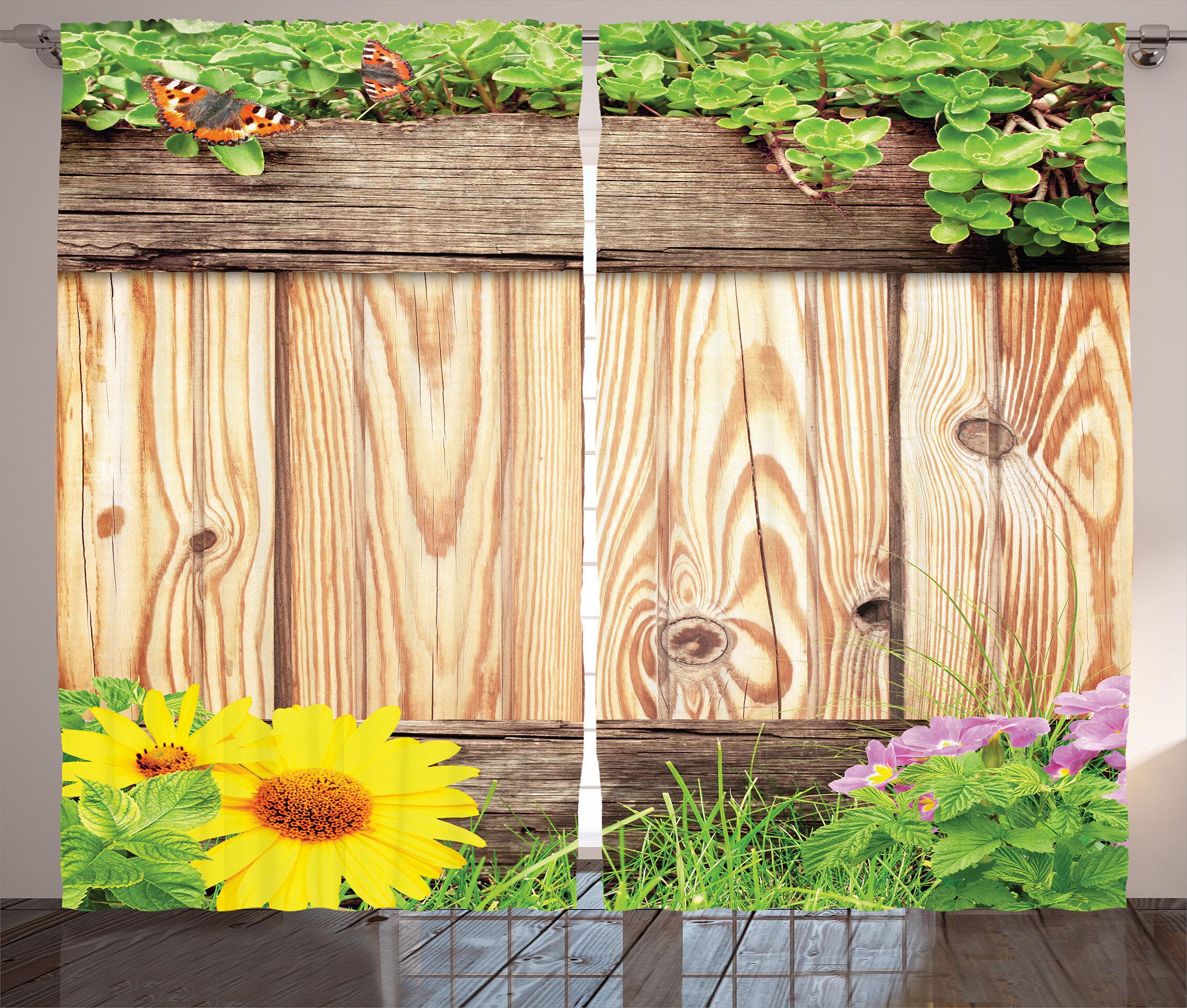August Grove Burton Wooden Fence Garden Yard Summer Spring