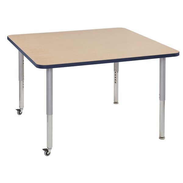 Maple Contour Thermo-Fused Adjustable 48 Square Activity Table by ECR4kids