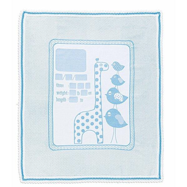 Vela Newborn Baby Memory Personalized Handwriting Giraffe and Chicks Blanket by Harriet Bee