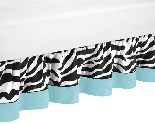 Zebra Queen Bed Skirt by Sweet Jojo Designs