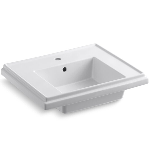 Tresham® Ceramic 24 Pedestal Bathroom Sink with Overflow by Kohler