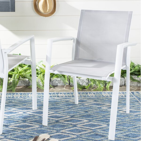 Cargill Stacking Patio Dining Chair (Set of 2) by Highland Dunes Highland Dunes