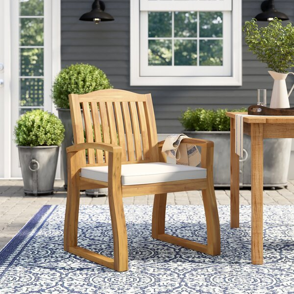 Burcham Patio Dining Chair With Cushion (Set Of 2) By Highland Dunes by Highland Dunes Savings