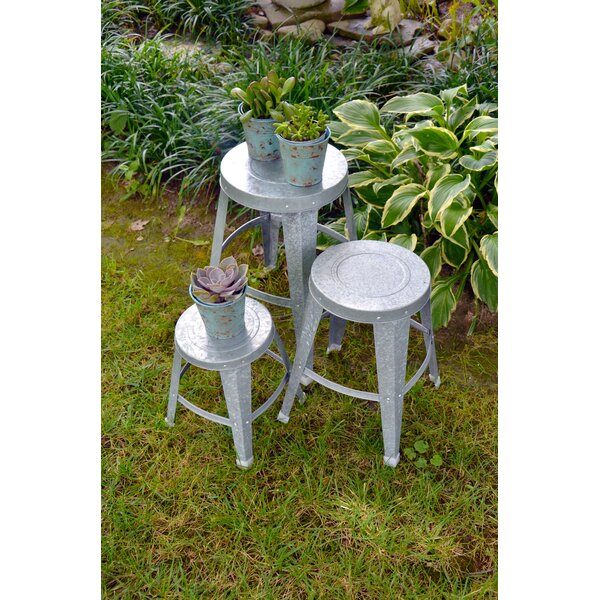 Galvanized 3 Piece Plant Stand Set by Red Carpet Studios LTD