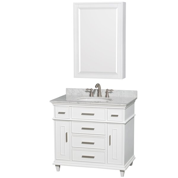 Berkeley 36 Single Bathroom Vanity Set with Mirror by Wyndham Collection