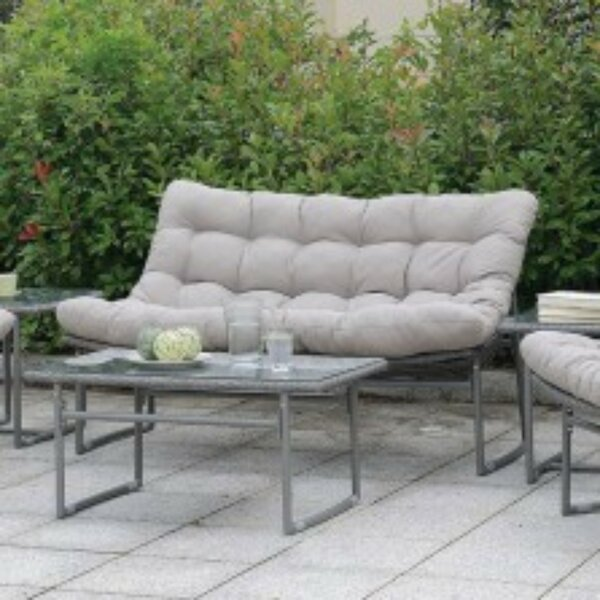 Ashmore Patio Sofa with Cushions by Ivy Bronx Ivy Bronx