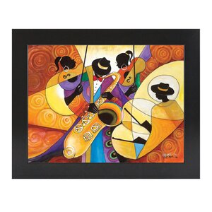 All That Jazz Framed Painting Print by African American Expressions