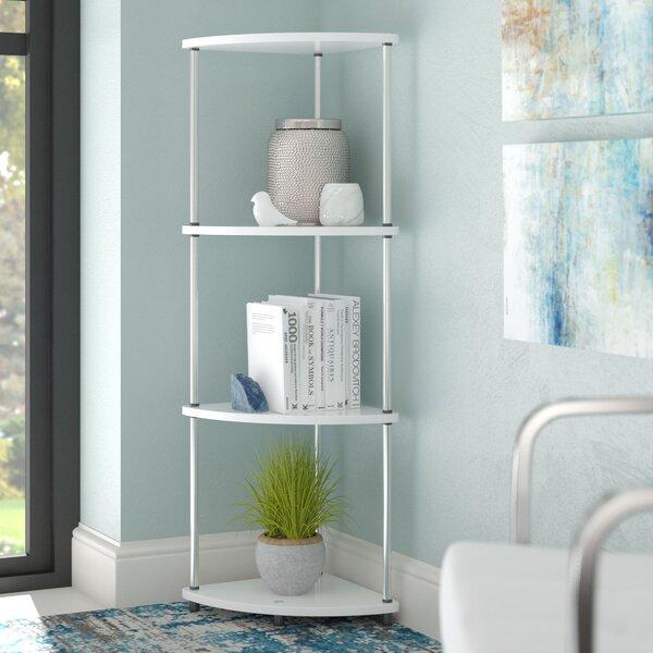 D'Aulizio 4 Tier Corner Unit Bookcase By Ebern Designs