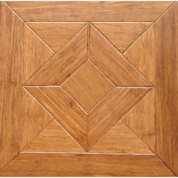 Georgian Parquet Engineered 15.75 x 15.75 Bamboo Wood Tile by Islander Flooring