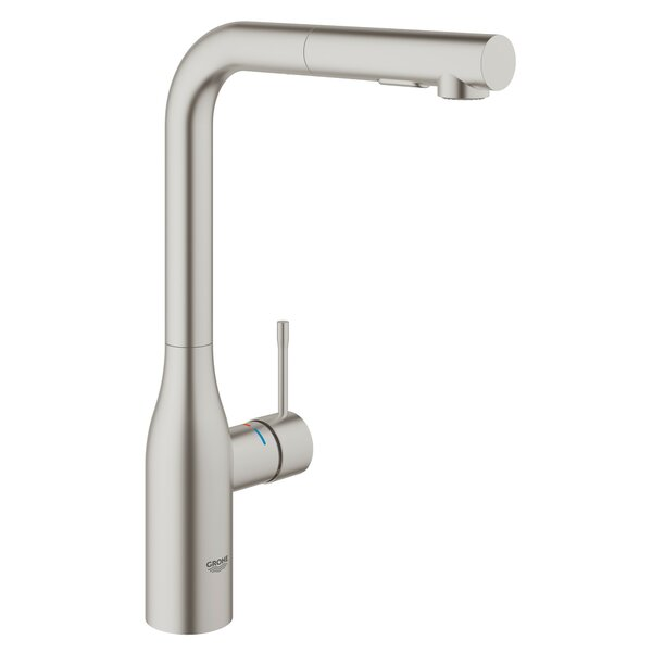 Essence Pull Out Single Handle Kitchen Faucet with SilkMove® by Grohe