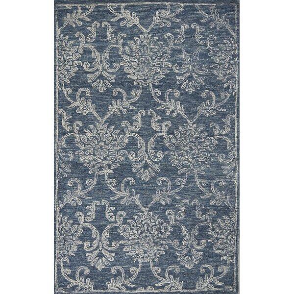 Gilleland Hand-Tufted Wool Denim Area Rug by Ivy Bronx