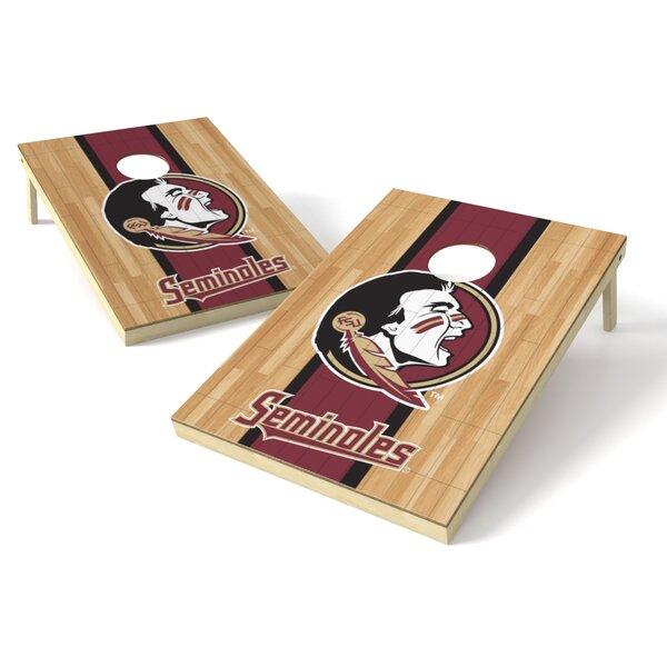 NCAA Hardwood Cornhole Game Set by Tailgate Toss