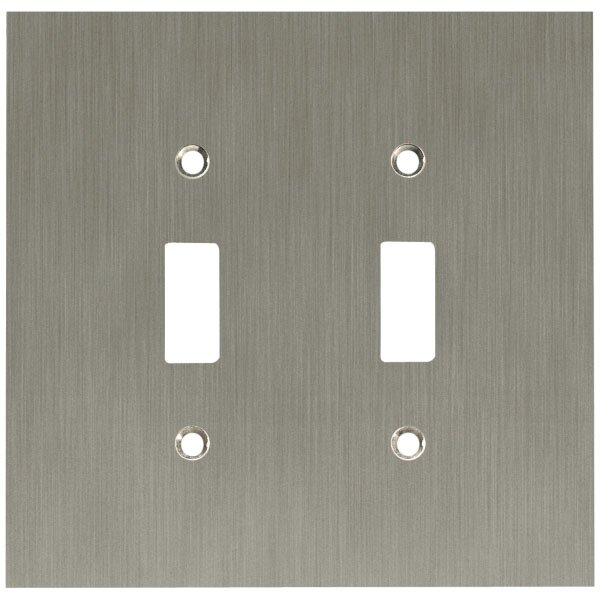 Concave Double Switch Wall Plate by Franklin Brass
