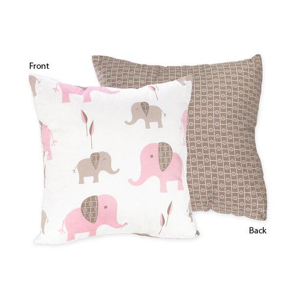 Elephant Cotton Throw Pillow by Sweet Jojo Designs