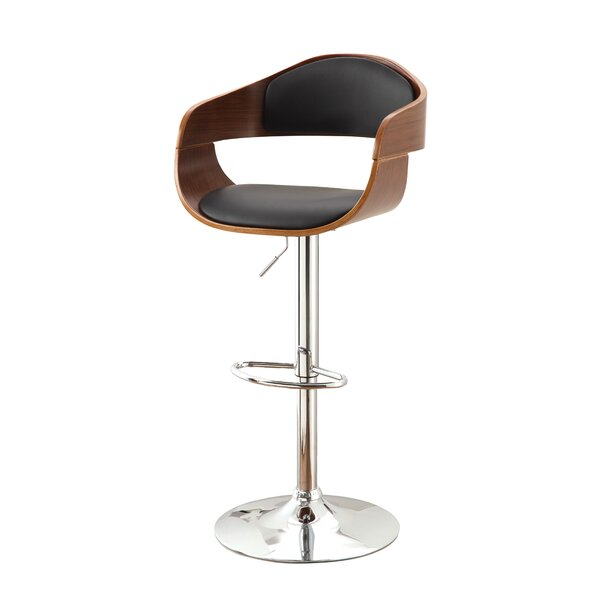 Tyler Adjustable Height Swivel Bar Stool by Hokku Designs