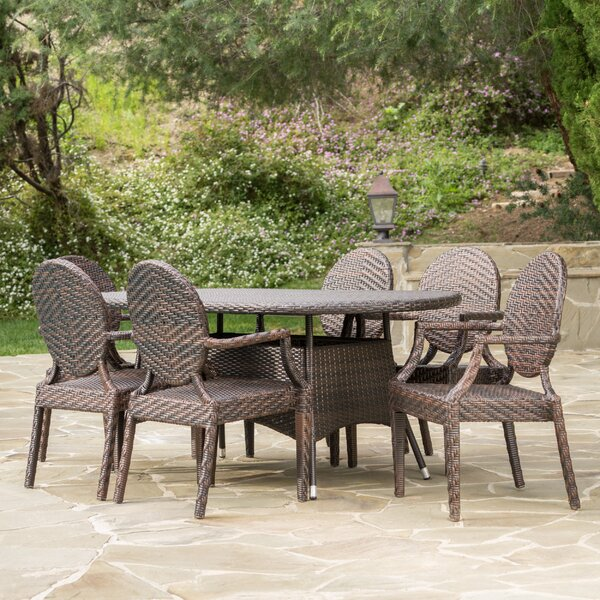 Jefferson Outdoor 7 Piece Dining Set by Bloomsbury Market