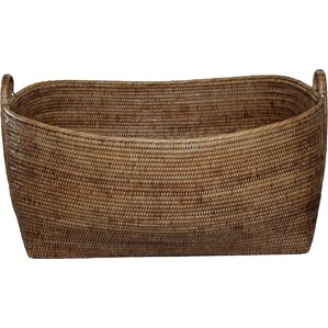 Rattan Basket with Hoop Handles