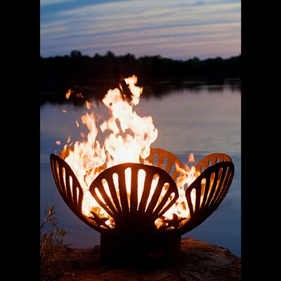 Fire Pit Art Barefoot Beach Steel Wood/Gas Fire Pit  Ignition: Wood Burning, Fuel Type: Wood Burning