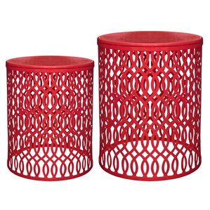 Totowa 2 Piece End Table Set by Varick Gallery